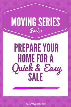 After ten years worth of helping people clean for a move, I am sharing my  routine for preparing your house for a quick and easy sale.  This post is full of areas to clean that will help you maximize your sale price! | Clean My Space