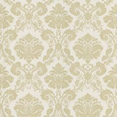 Wallpaper with an embossed damask print.  Product: WallpaperConstruction Material: VinylColor: Creamy beigeFeatures: Peelable