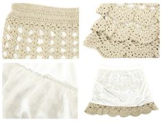 Receitas de Crochet: Saia croche com babado