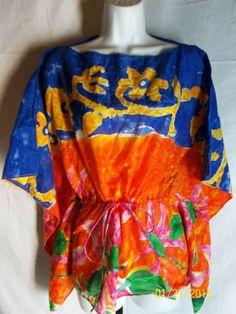 Ralph Lauren Women's Shirt Small Multi-Color Pre-owned Batwing #RalphLaurenBlackLabel #Blouse #Casual