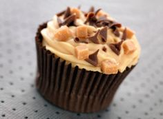 Mexican Hot Chocolate Cupcakes-I would use a gluten free cake mix Cupcakes Au Cholocat, Toffee Cupcakes, Brownie Cupcakes, Oreo Milkshake, Milkshake Recipes, Cake Mix Recipes, Cupcake Recipes, Cupcake Ideas, Mexican Hot Chocolate Cupcakes Recipe