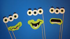 Monster Photo Booth Props - 6 Piece Photo Booth Prop Set- Alien / Monster Photo…