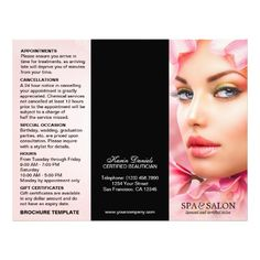 Hair Salon Stylist Service Menu Brochure Template | Brochure ...