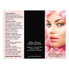 day spa or beauty salon brochure template 85 x 11 spa menu brochure