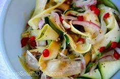 Fire 'n Ice Marinated Squash Salad