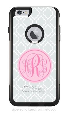 Monogrammed iPhone 6 Plus Otterbox Commuter Cases | Personalized Otterbox Cases | Personalized From Me To You