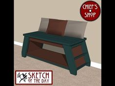 Chief's Shop Sketch of the Day: Reading Bench