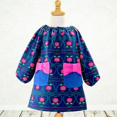 The Poppy Bow Dress | YouCanMakeThis.com