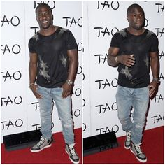 9595f15cb07 Kevin Hart Styles in Saint Laurent and Christian Louboutin for Memorial Day  Weekend in Vegas