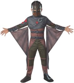 Evolve from the Dragon's nest in this How To Train Your Dragon 2 Hiccup Boys Costume. The Pride of Berk is here, it is time to defeat the others with this outfit. Costume includes the jumspuit printed in armour and leather, with included wings and Hi Hiccup Costume, Costume Garçon, Dragon Costume, Boy Costumes, Super Hero Costumes, Toddler Costumes, Costume Ideas, Toothless Costume, Party Costumes