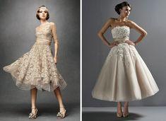 tea-length wedding dresses. love.