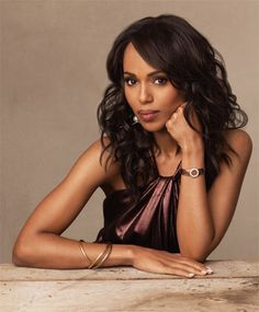 Kerry Washington.....love female black actors...they are soo interesting to watch their movies...to me they are strong and powerful when it comes to acting and interviews....love them to me I find them sophisticated and interesting...love kerry