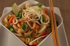 Happy Herbivore Cheater Pad Thai - this is honestly our new favorite recipe, and it is so dang easy to make.