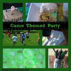 Camo Themed Birthday Party