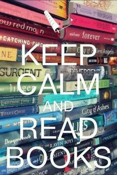 I do this every single day. Without books I would not exist. (ex: WARRIOR CATS!! XD)