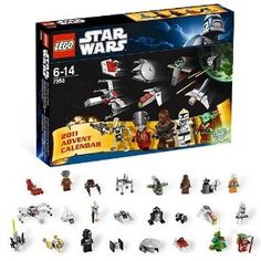 Star Wars Lego Advent Calendar - I found this on clearance after Christmas and used them for the goody bags and for the tops of the cupcakes