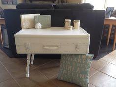 Suitcase table. Unbelievably cute!!