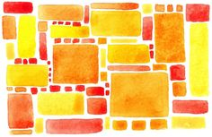 Lemon Meringue Pie  abstract watercolour print by ScampyByTheSea, $15.00