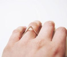 handmade sterling silver triangle ring
