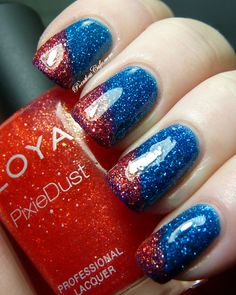 Zoya Pixie Dust Summer 2013 Collection - Liberty with Miranda accent - shiny | Pointless Cafe