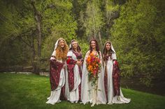 Fantastical bridesmaids! just pinning this because I LOVE those beautiful dresses