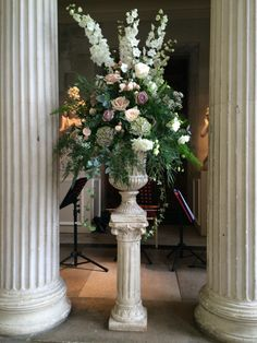 Emma and Andy 30th August 2014 Flowers by www.wildorchidweddingflowers.co.uk vintage, antique roses, at Woburn Sculpture Gallery