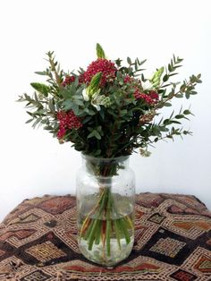 Bouquet with Achillea, Ornithogalum and Parvifolia