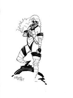 1987 - Marionette sketch by Mike Mignola