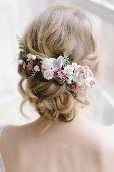 Flower Hair comb, Dusty rose hair comb, Wedding hair piece, Bridal hair clip Excited to … Wedding Hair Clips, Wedding Hair Flowers, Wedding Hair Pieces, Flowers In Hair, Pink Flowers, Wedding Veils, Rose Wedding, Flower Hair Pieces, Flower Hair Clips