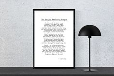The Song of Wandering Aengus - W.B. Yeats - Instant Download, Poetry Print, Wall Art by PinkPebblePrints on Etsy
