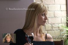 Wigs and Hair Additions for women with thinning hair and alopecia.  ReallusionsHair.com