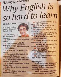 #English #LANGUAGE #words #hard #speaking #education