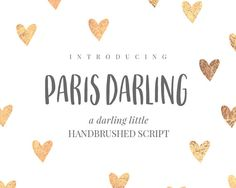 Paris Darling Font  Handwritten font by SVGandFontBoutique on Etsy