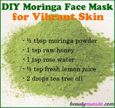 DIY Moringa Powder Face Mask for Vibrant Skin Treat your face to nourishing superfoods that are great for skin! Make a DIY moringa powder face mask for vibrant skin! Moringa is a superfood that has recently shot up to fame. However, it's been consumed for Skin Care Regimen, Skin Care Tips, Skin Tips, Beauty Care, Beauty Skin, Superfoods, Skin Care Routine For Teens, Beauty Hacks For Teens, Alternative Health