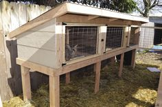 DIY for building this 3 part rabbit hutch