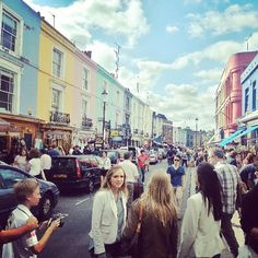 Portobello Road Market  Fun place to shop for antiques and people watch