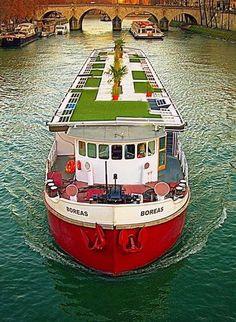 bateau boras vue arienne - Location Peniche Mariage Paris
