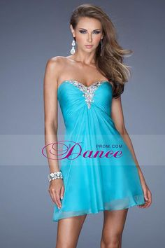 2014 Concise Homecoming Dresses Swetheart Mini Ruffled Bodice Rhinestone Beaded Ice Blue