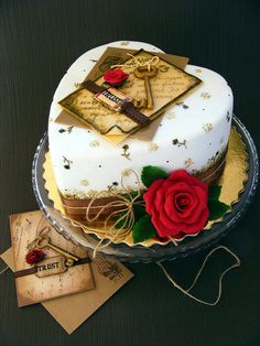 Valentine's Day Key to love cake by bubolinkata, via Flickr