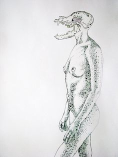 original nude naked women figure drawing art by Artbrushing