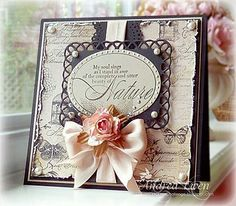 by Vintage Roses by AndreaEwen - Cards and Paper Crafts at… Shabby Chic Cards, Spellbinders Cards, Beautiful Handmade Cards, Mothers Day Cards, Happy Mothers, Marianne Design, Heartfelt Creations, Pretty Cards, Cool Cards