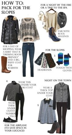 How to pack for the slopes Apres Ski Party 1c7dba34d