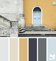 Yellow and gray palette