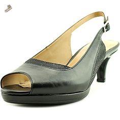809d16db9894 Naturalizer Highly Women US 6.5 Black Peep Toe Slingback Heel - Naturalizer  pumps for women (