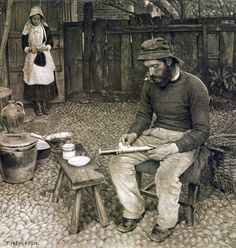 Soubor:A Fisherman At Home, Peter Henry Emerson, 1887.jpg