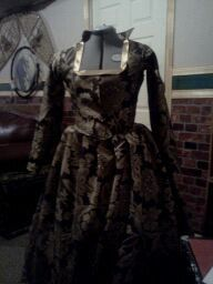 more tailored fit bodice and skirts