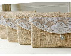 burlap lace wedding, clutch purse, rustic wedding, rose color choice, Personalize, Bridesmaid gift, wedding clutch, bridal clutch, pouch