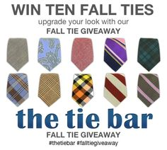 WIN TEN FALL TIES #GIVEAWAY   all you need to do is fill out your email. #LoveMeSometies