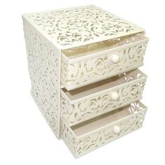 Give your desk or shelf some extra storage space with our metal 3-tier drawer unit, available to buy online today.