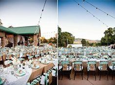 Burlap wedding tabletop